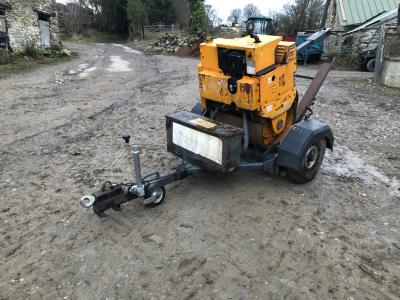 Terex MBR71HE Pedestrian Single Drum Vibrating Road Compactor Roller